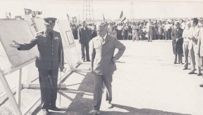 1980. 17 iulie. Vizita de lucru la Canalul Dunare-Marea Neagra. km. 41 Basarabi